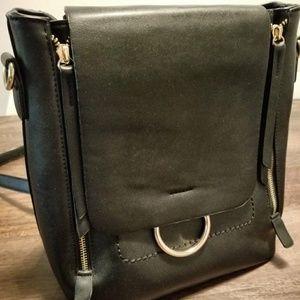 Black backpack and shoulder bag